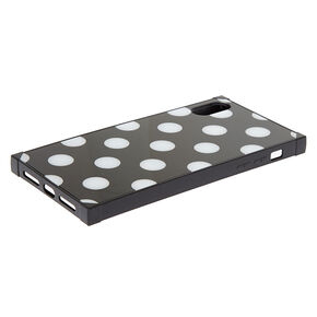 Black Polka Dot Phone Case - Fits iPhone XS Max,