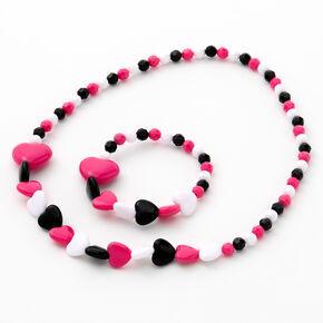 Parure de bijoux cœurs perlés Claire'sClub — Lot de 2,