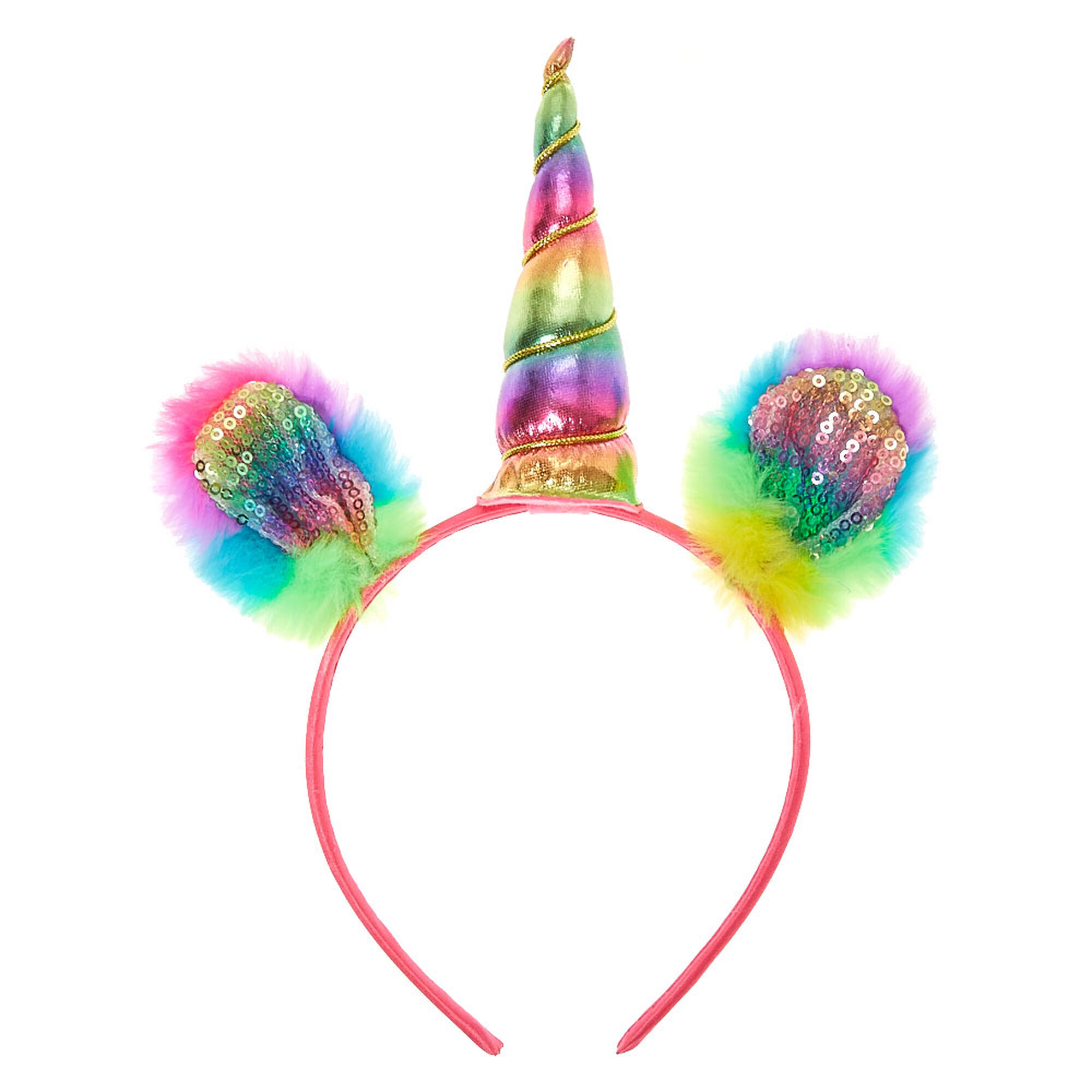 ... Claire  39 s Club Rainbow Unicorn Headband 3b61c7d5e0b