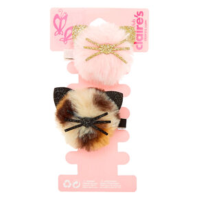 Claire's Club Pom Cat Hair Clips - 2 Pack,