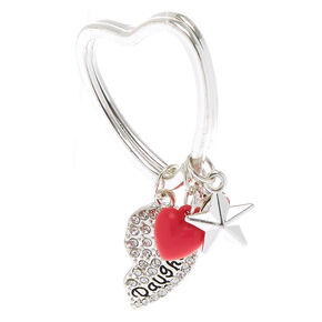 a9421f8c2a2 Mother Daughter Keychain - Silver