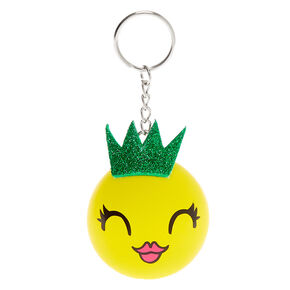 Pineapple Princess Stress Ball Keychain - Yellow,