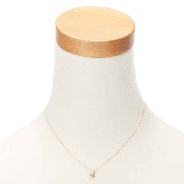 Claire's - rose initial pendant necklace - 2