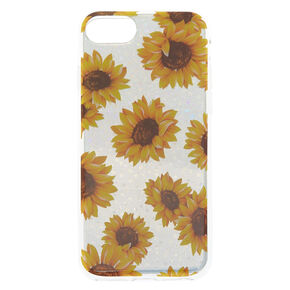 Silver Holographic Sunflower Phone Case - Fits iPhone 6/7/8/SE,
