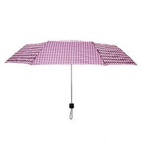 Pink & Black Houndstooth Umbrella,