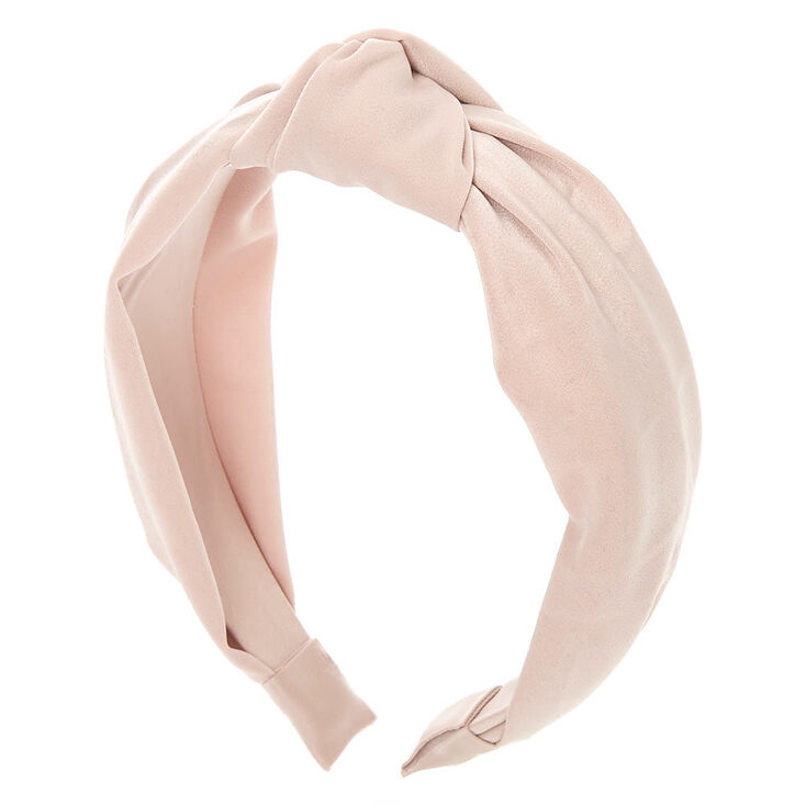 Satin Knotted Headband - Champagne,