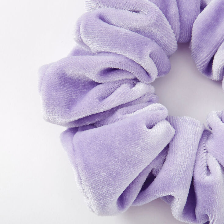 Medium Velvet Hair Scrunchie - Periwinkle,