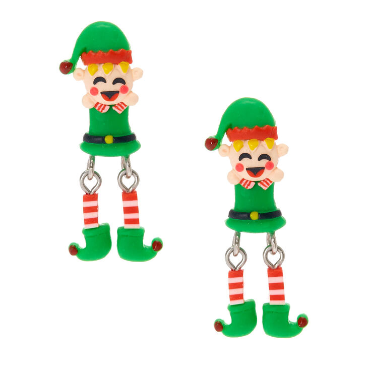 Moving Elf Front and Back Drop Earrings,