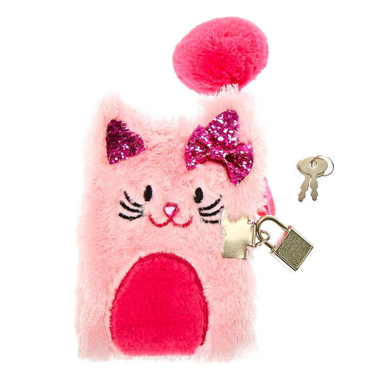 Claire's Club Avery the Cat Soft Diary - Pink,