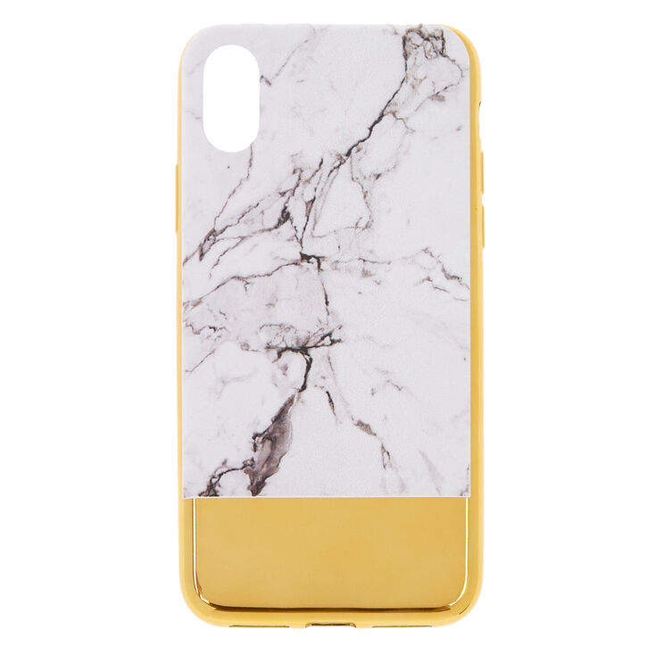 new arrival df920 bc3e7 Marble & Gold Protective Phone Case - Fits iPhone X/XS