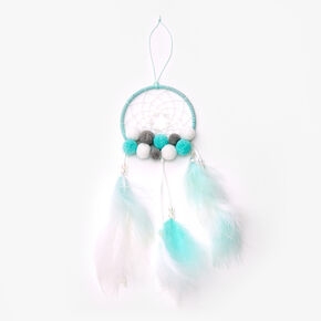 Pom Pom Feather Dreamcatcher - Mint,