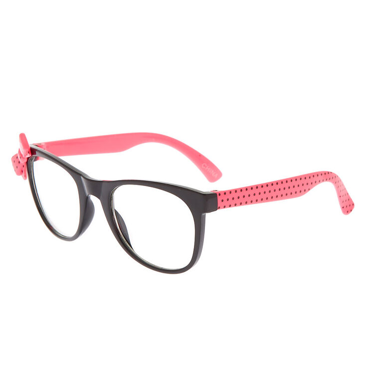 Claires Club Polka Dot Bow Frames Pink Claires Us