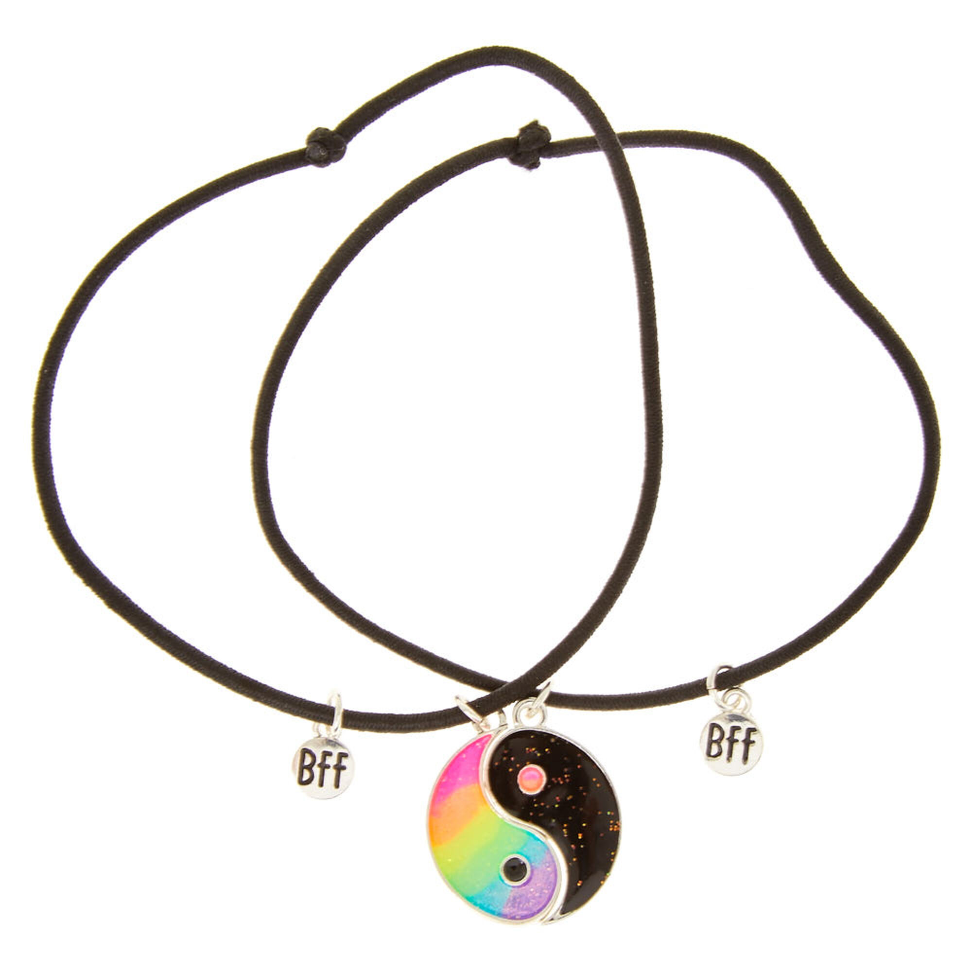 Best Friends Rainbow Yin Yang Bracelets