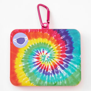 Rainbow Tie Dye Face Mask Case - Light Pink,