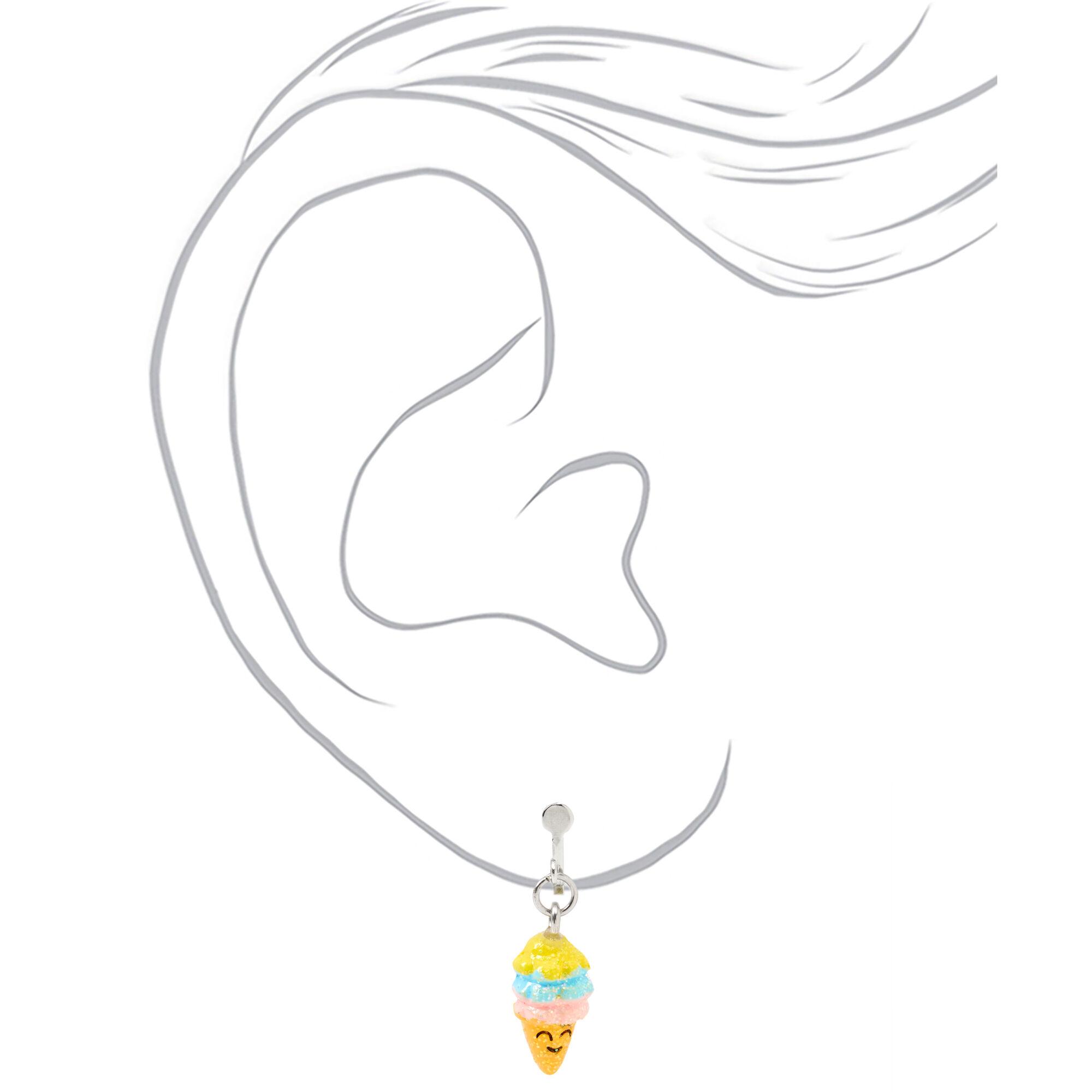Boucles d/'oreilles enfants Feuille Bijoux Étoile Coeur Enfants 9 Paires//Lot clous d/'oreilles parapluie