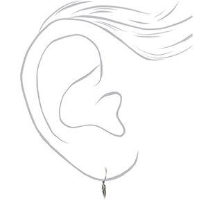 Sterling Silver 12MM Feather Hoop Earrings,