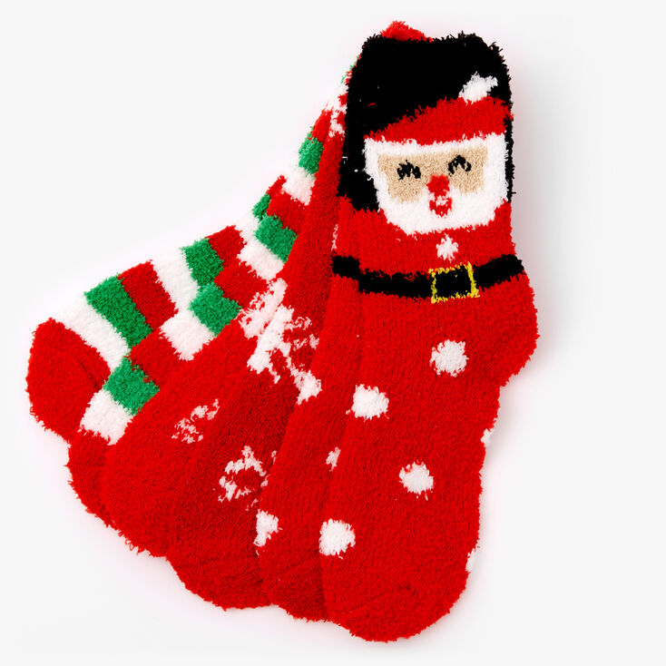 Cozy Christmas Crew Socks - 3 Pack,
