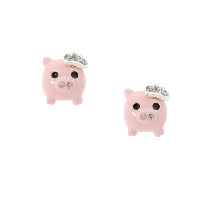 Royal Pig Stud Earrings Claire S Us