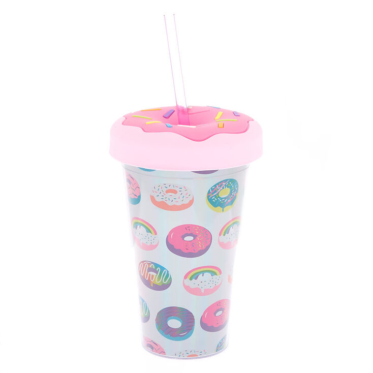 Rainbow Donut Tumbler - Pink,