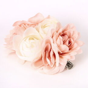 Bouquet Of Flowers Hair Clip - Blush Pink,