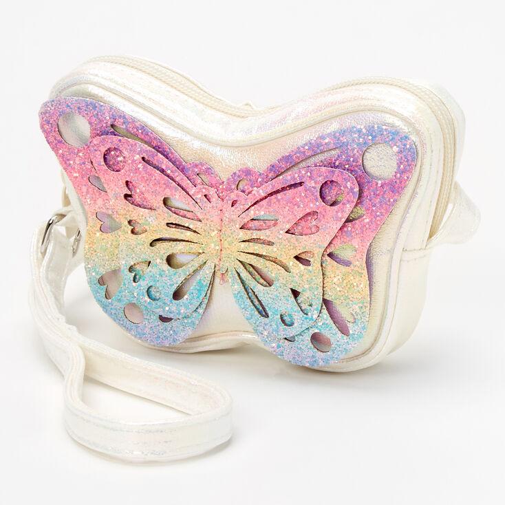 Iridescent Rainbow Butterfly Crossbody Purse