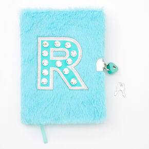 Giant Initial Furry Lock Diary - R,