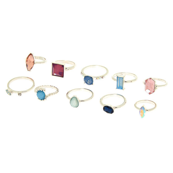 Claire's - romantic bling multi-size rings - 1