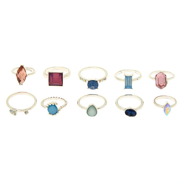 Claire's - romantic bling multi-size rings - 2