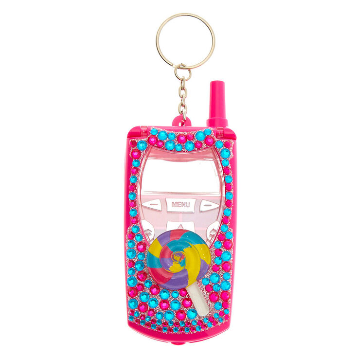 Candy Collection Bling Flip Phone Lip Gloss Set - Pink,