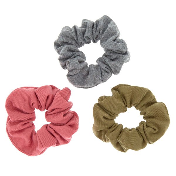 Claire's - fall neutral hair scrunchies - 1