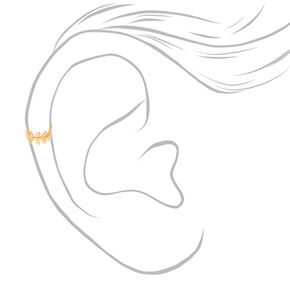 Mixed Metal Leaf Ear Cuffs - 3 Pack,