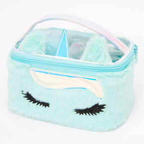 Miss Glitter the Unicorn Bath & Makeup Bag Set - Mint,