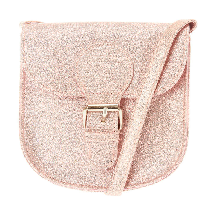 Kids Light Pink Glitter Cross Body Bag