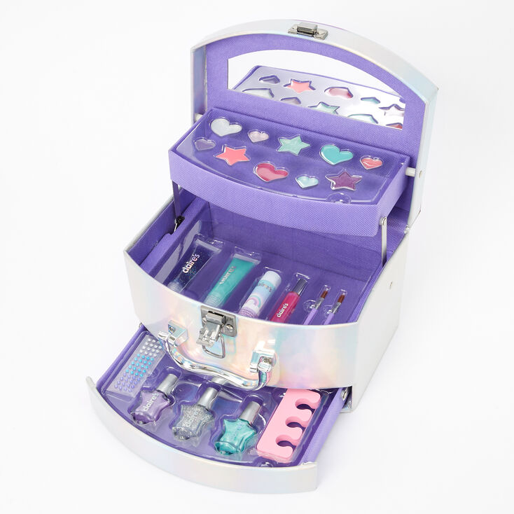 Rainbow Travel Case Mega Makeup Set - Silver,
