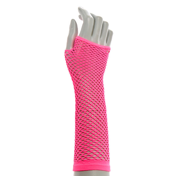 Claire's - hot fishnet mesh arm warmers - 1