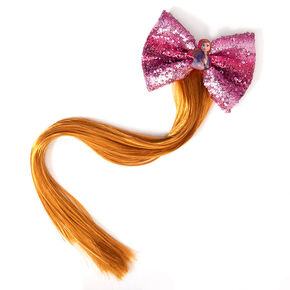 ©Disney Frozen 2 Anna Fake Pony Tail & Sequin Bow Hair,