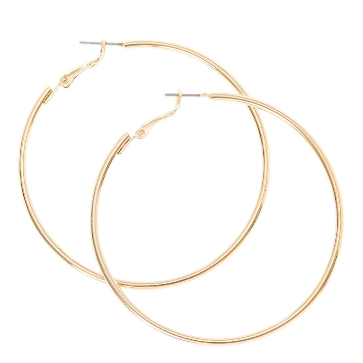 Gold 60mm Hoop Earrings Claire S Us