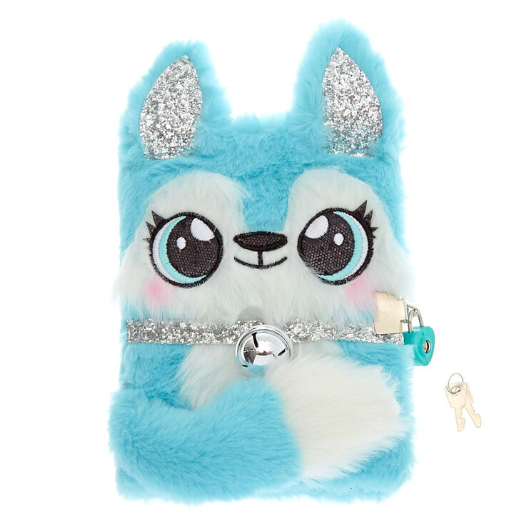Hallie the Husky Soft Lock Journal - Mint,