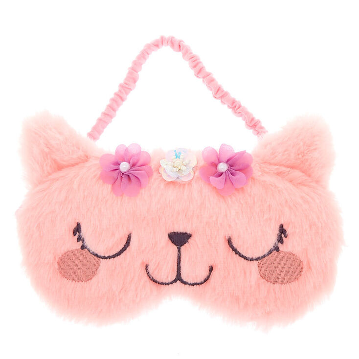 Claire's Club Kitty Flower Sleeping Mask - Pink,
