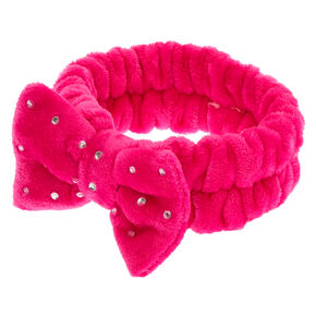 Makeup Bow Headwrap - Pink,