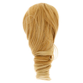 Short Faux Hair Extensions Ponytail Claw - Blonde,