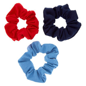 Small Patriotic Hair Scrunchies - 3 Pack,