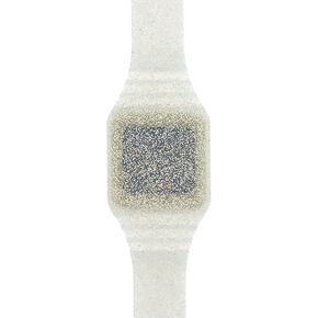 Glitter LED Watch - Silver,