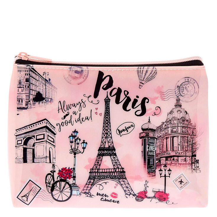 Paris Illustrated Makeup Bag,