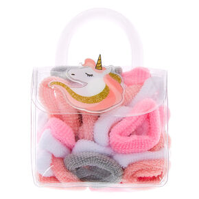 Claire's Club Unicorn Hair Bobbles & Bag - 38 Pack,