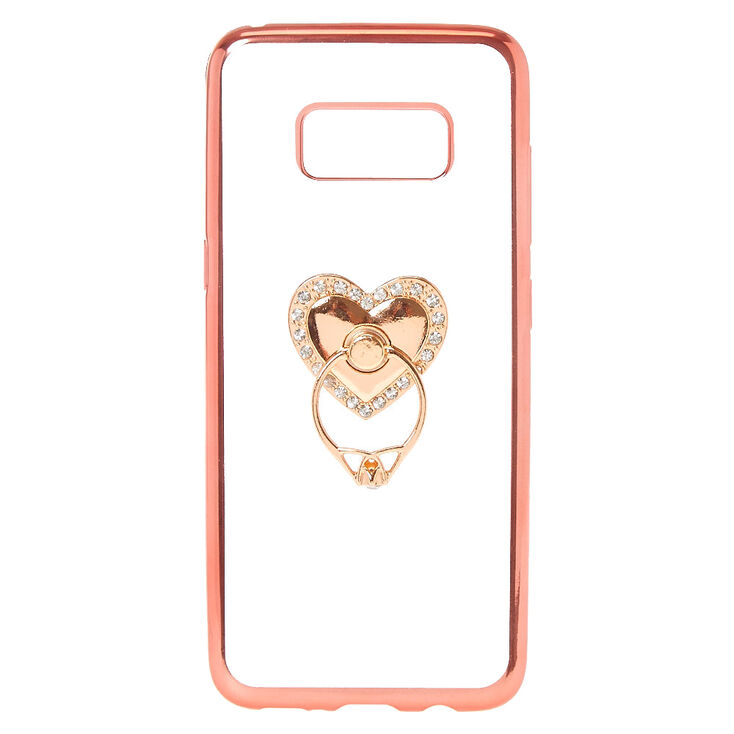 Heart Ring Stand Phone Case Claires Us