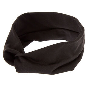 Wide Jersey Twisted Headwrap - Black,