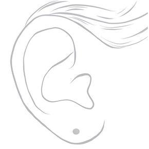 Sterling Silver Disc Stud Earrings,