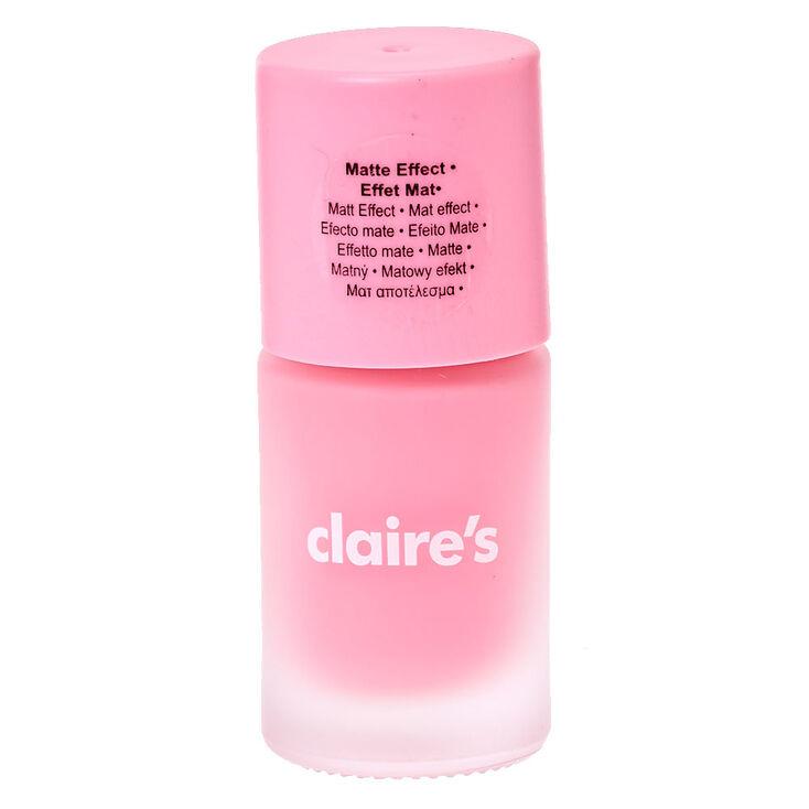 Sorbet Pink Matte Nail Polish | Claire\'s US