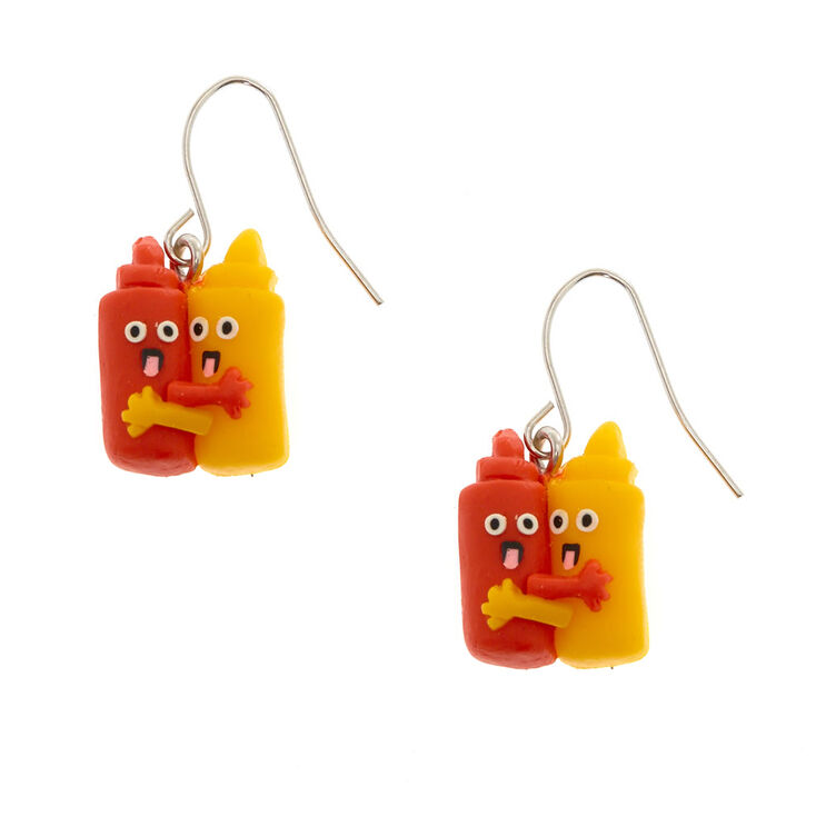 Ketchup Mustard Hug Earrings